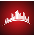 Abstract white real estate icon design vector image