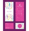 colorful tulip flowers vertical frame vector image