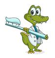 crocodile dentist vector image