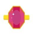 Flat design of red ruby gemstone vector image