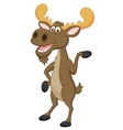 Moose cartoon waving vector image