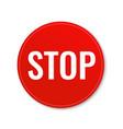 stop banner vector image