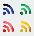 WiFi icon Abstract Triangle vector image