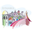 Istanbul drawing vector image