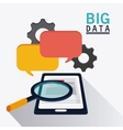 Big data center base and web hosting icon set vector image