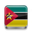 Metal icon of Mozambique vector image