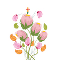 Stylized Poppy flowers watercolor vector image