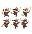 Cat Ninja Running Sprite vector image