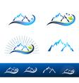 Mountain Resort Logo Design vector image vector image