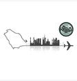 Saudi Arabia Skyline Buildings Silhouette vector image