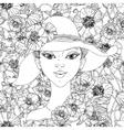 Beautiful fashion women vector image