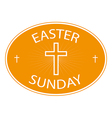 easter sunday banner with cross symbol vector image