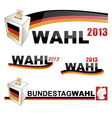 GERMAN ELECTIONS vector image