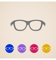 glasses icons vector image