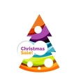 Abstract geometric Christmas banner vector image