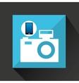 smartphone camera social network media icon vector image