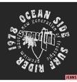 Surfing vintage stamp vector image