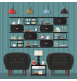 living room design ideas vector image