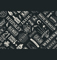 Seamless pattern with types of whiskey vector image