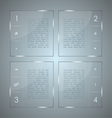 Glass infographic Transparent glass plates vector image