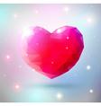 Shiny heart gem symbol vector image
