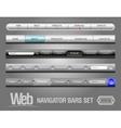 web elements navigation bar set vector image vector image