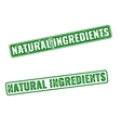 Realistic Natural Ingredients rubber stamp vector image