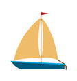 color silhouette of sailboat icon vector image