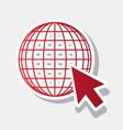 earth globe with cursor new year reddish vector image