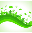 ecology concept- save nature vector image
