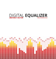 Graphic equalizer background vector image