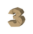 number 3 stone rock font three stones alphabet vector image