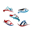 Set of real estate icons vector image