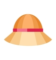 Summer Hat Isolated on White Background vector image