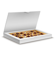 White box of chocolates isolated on white vector image