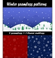 Three christmas and new year seamless pattern vector image