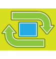 scheme with cycling arrows vector image vector image