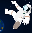 Astronaut in open space vector image