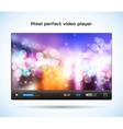 Pixel perfect video player for web vector image
