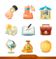 Business icons set 4 vector image vector image