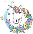 unicorn magic vector image vector image