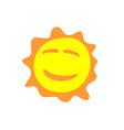 Sunshine fun sign Smiling sun logo vector image