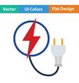 Electric plug icon vector image
