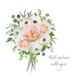 flower floral bouquet of garden pink rose vector image