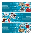 Set of Horizontal Banners about sewing vector image