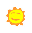 Sunshine fun sign Smiling sun logo vector image
