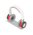 wireless headphones isometric 3d icon vector image