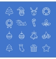 Christmas icons set - Simplus series vector image vector image