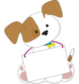 Cute Puppy Sign vector image