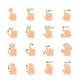 Hand touch gestures icons set vector image vector image